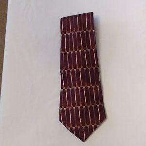 L187, Pierre Cardin, tie, purple, silver,100% silk